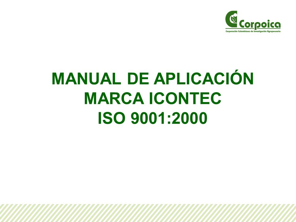 MANUAL DE APLICACIÓN MARCA ICONTEC