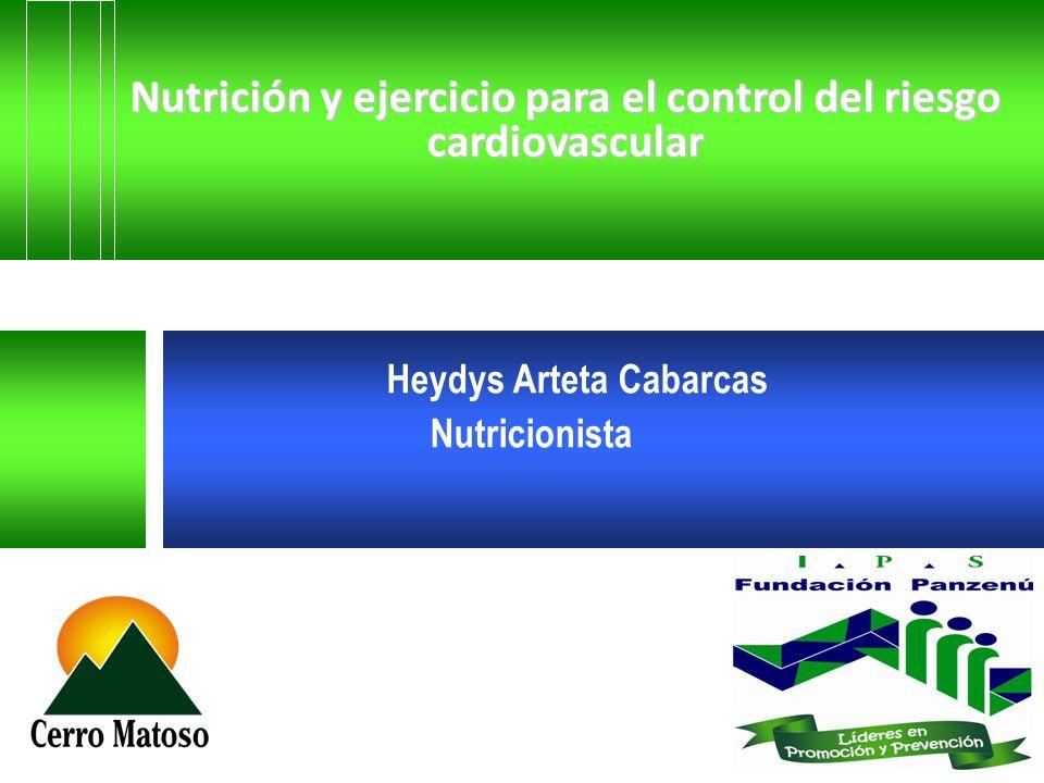 Nutrición y ejercicio para el control del riesgo cardiovascular