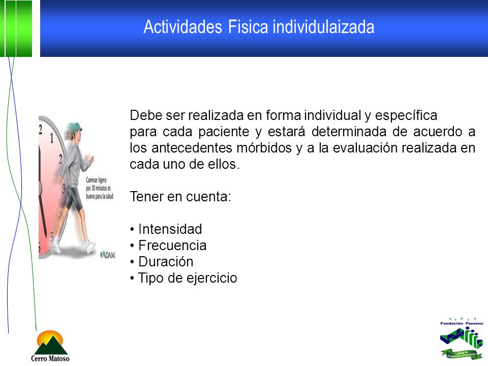 Actividades Fisica individulaizada