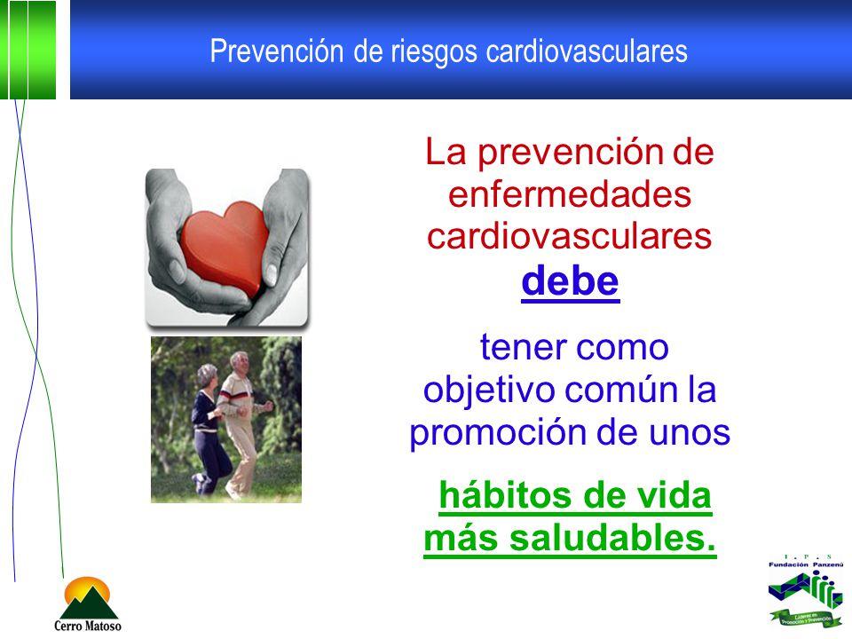 Prevención de riesgos cardiovasculares