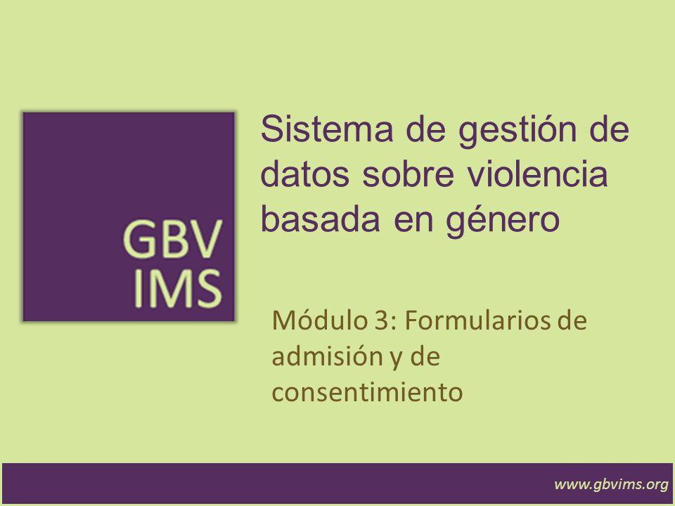 Sistema de gestión de datos sobre violencia basada en género