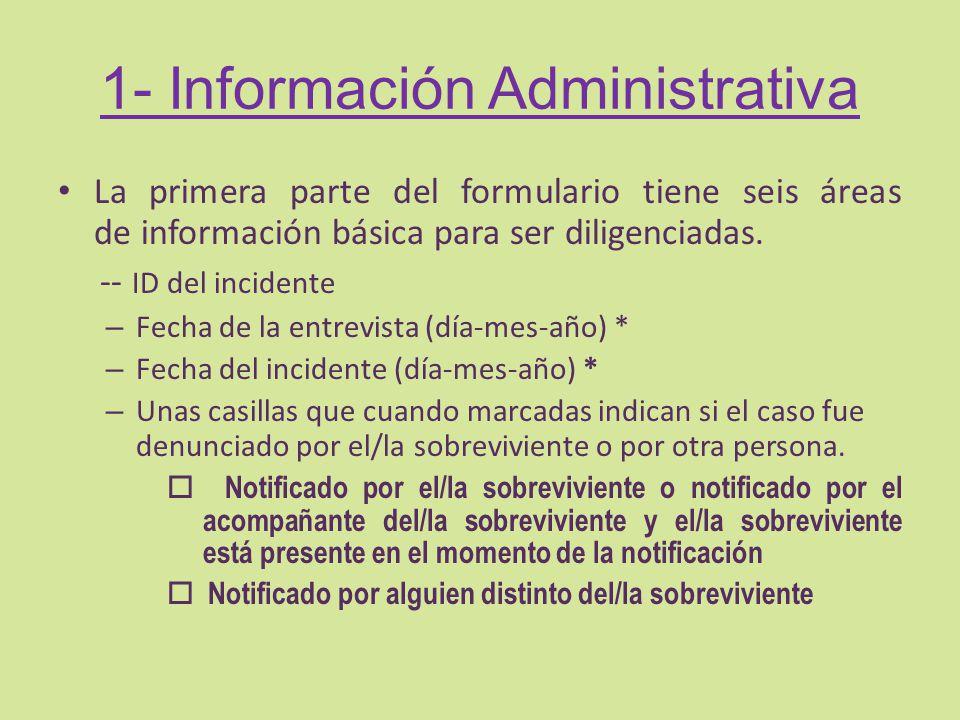 1- Información Administrativa
