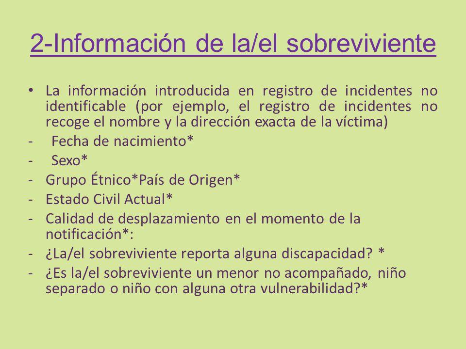 2-Información de la/el sobreviviente