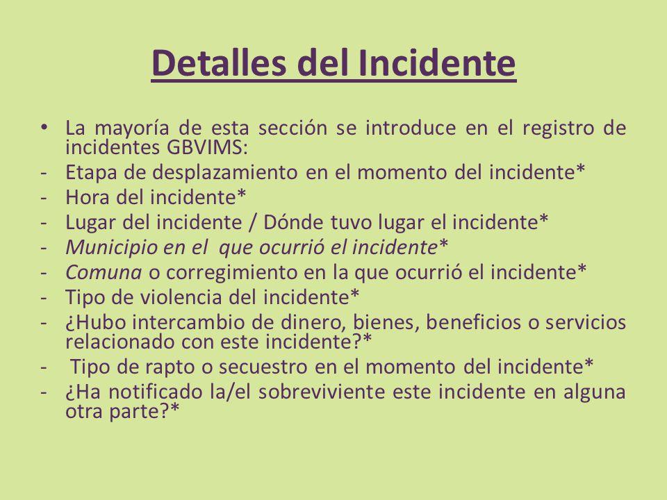 Detalles del Incidente