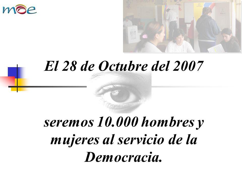 seremos 10.000 hombres y mujeres al servicio de la Democracia.