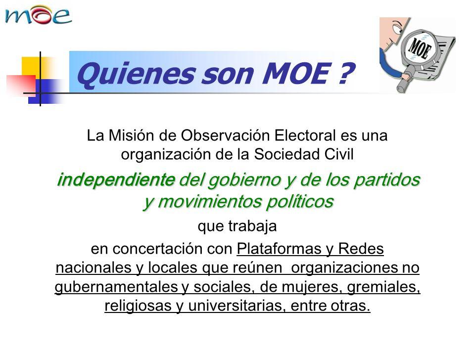 independiente del gobierno y de los partidos y movimientos políticos