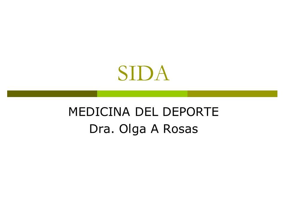 MEDICINA DEL DEPORTE Dra. Olga A Rosas