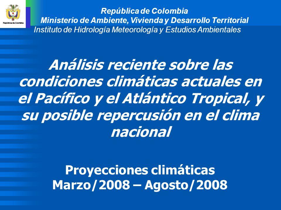 República de Colombia Ministerio de Ambiente, Vivienda y Desarrollo Territorial. Instituto de Hidrología Meteorología y Estudios Ambientales.