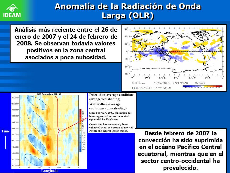 Anomalía de la Radiación de Onda Larga (OLR)