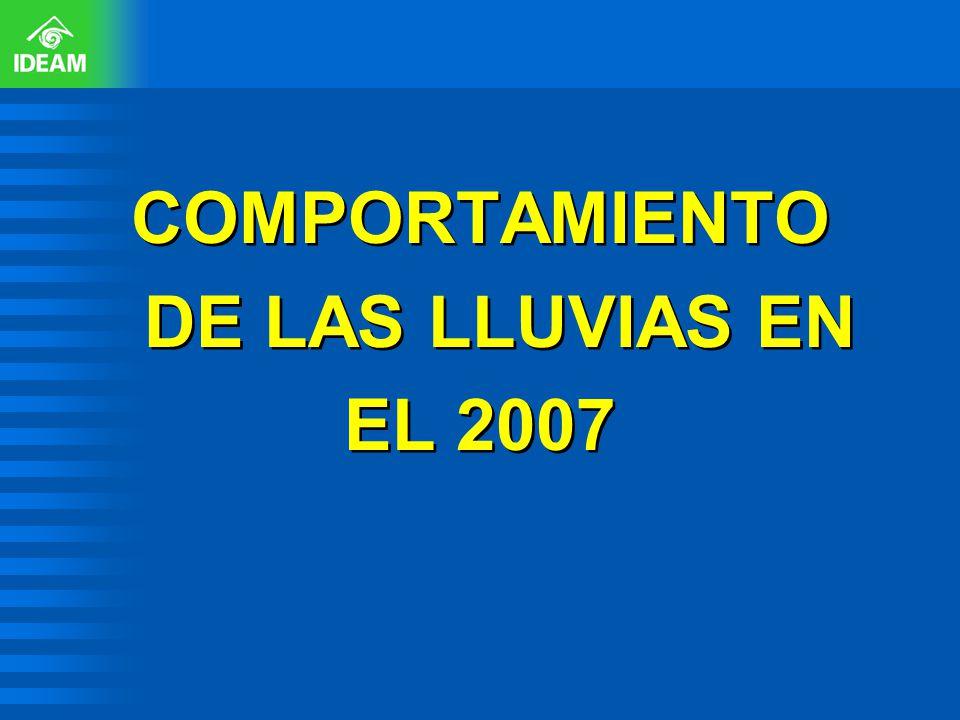 COMPORTAMIENTO DE LAS LLUVIAS EN EL 2007