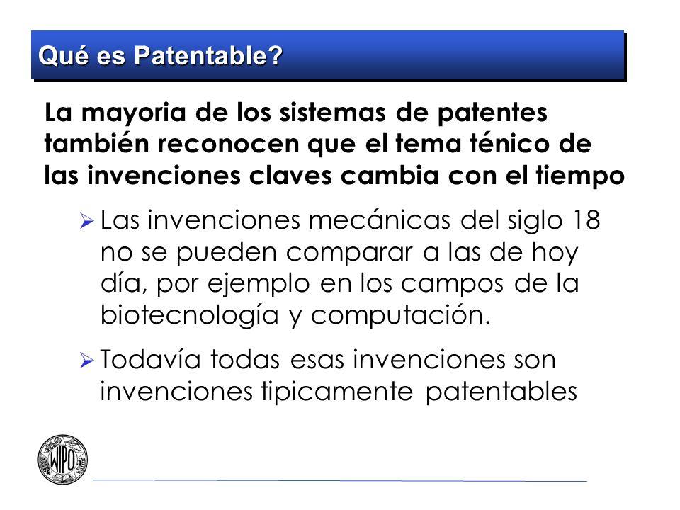 Todavía todas esas invenciones son invenciones tipicamente patentables