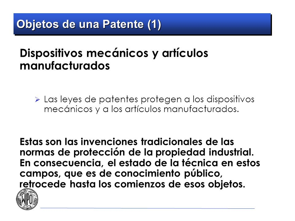 Objetos de una Patente (1)