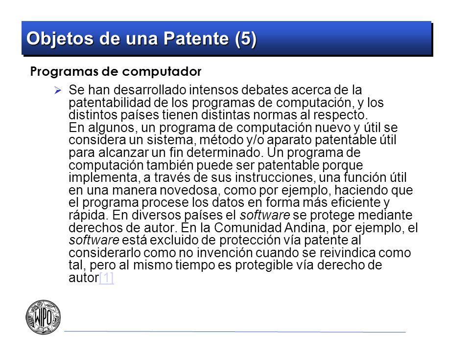 Objetos de una Patente (5)