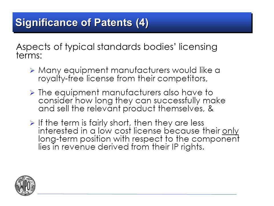 Significance of Patents (4)