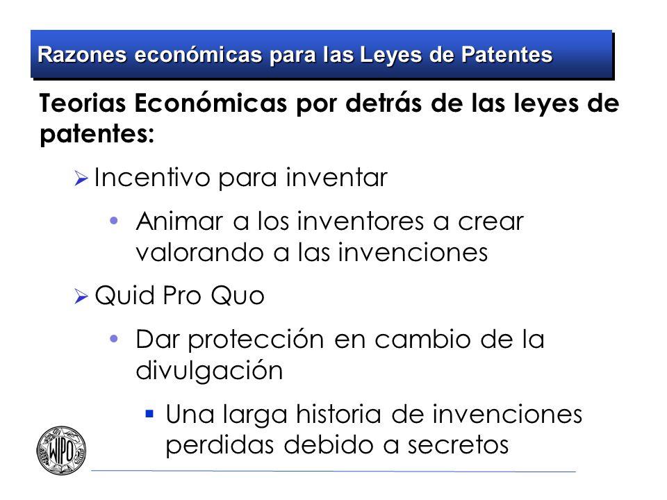 Razones económicas para las Leyes de Patentes