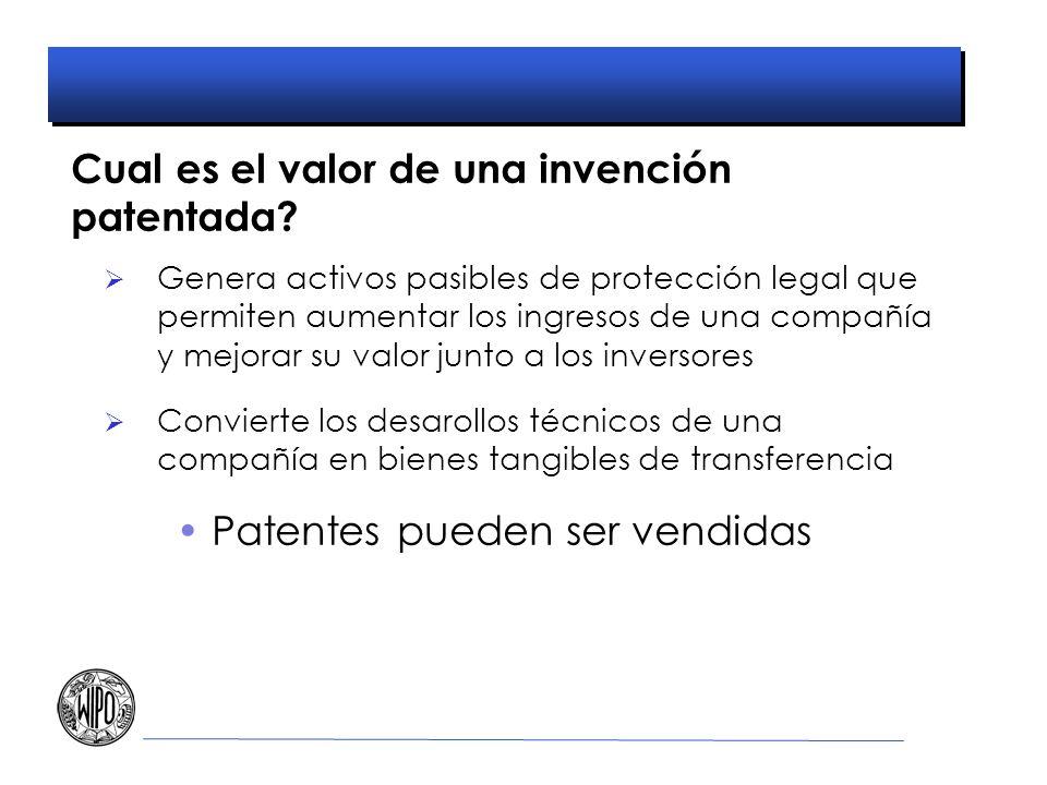 Cual es el valor de una invención patentada