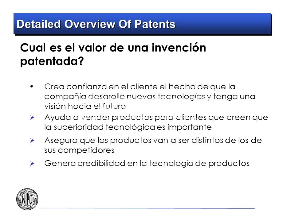 Detailed Overview Of Patents