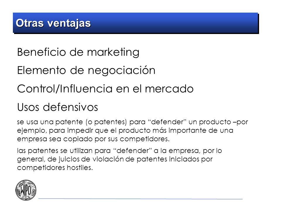 Beneficio de marketing Elemento de negociación