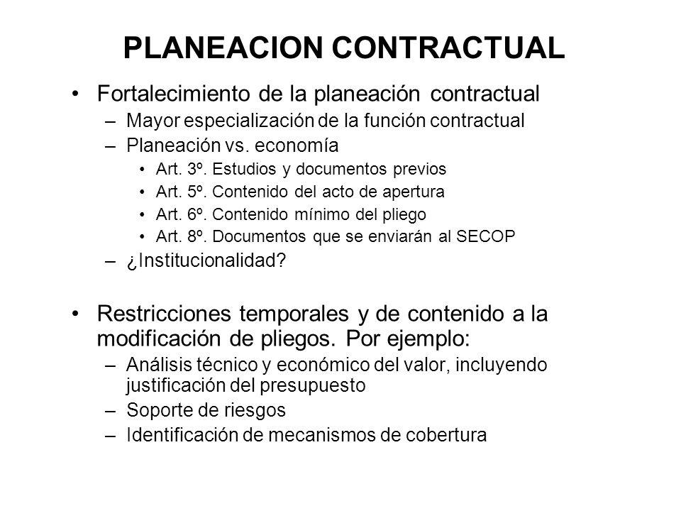 PLANEACION CONTRACTUAL