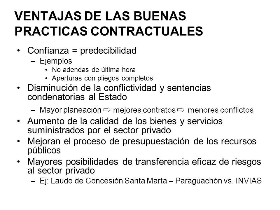 VENTAJAS DE LAS BUENAS PRACTICAS CONTRACTUALES