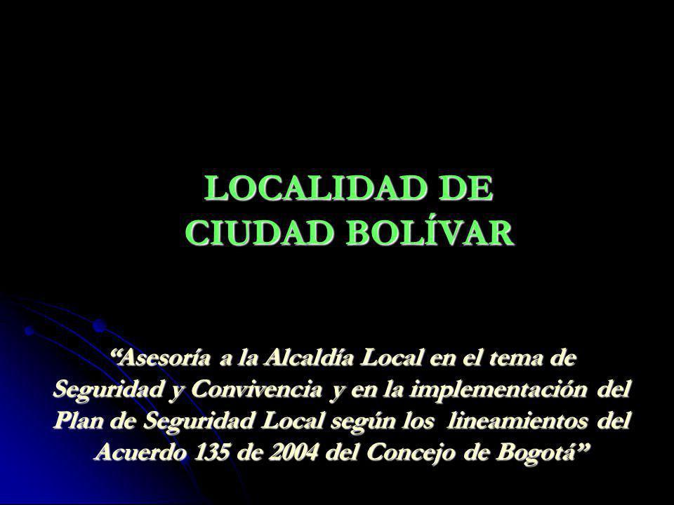 LOCALIDAD DE CIUDAD BOLÍVAR