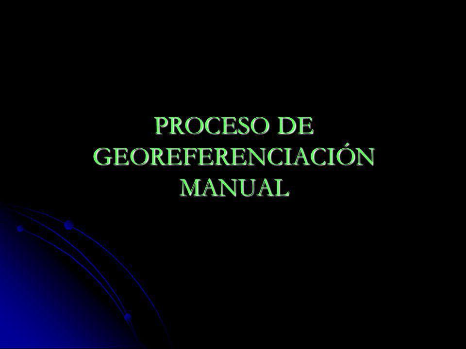 PROCESO DE GEOREFERENCIACIÓN MANUAL