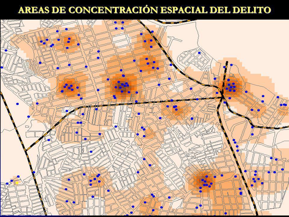 AREAS DE CONCENTRACIÓN ESPACIAL DEL DELITO