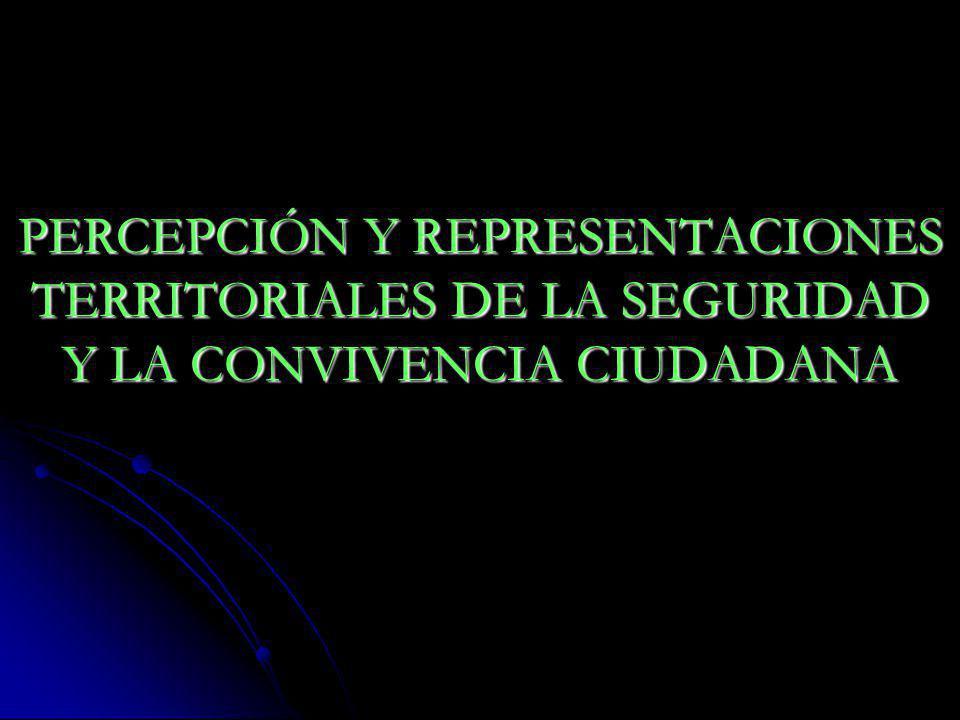 PERCEPCIÓN Y REPRESENTACIONES TERRITORIALES DE LA SEGURIDAD Y LA CONVIVENCIA CIUDADANA