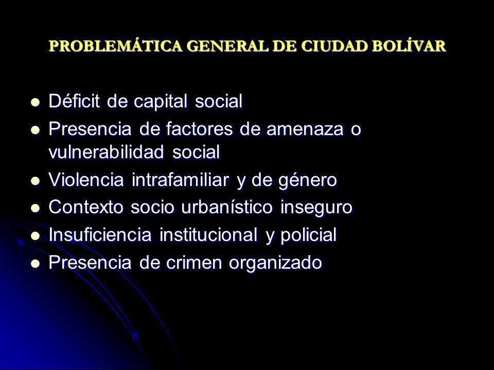 PROBLEMÁTICA GENERAL DE CIUDAD BOLÍVAR