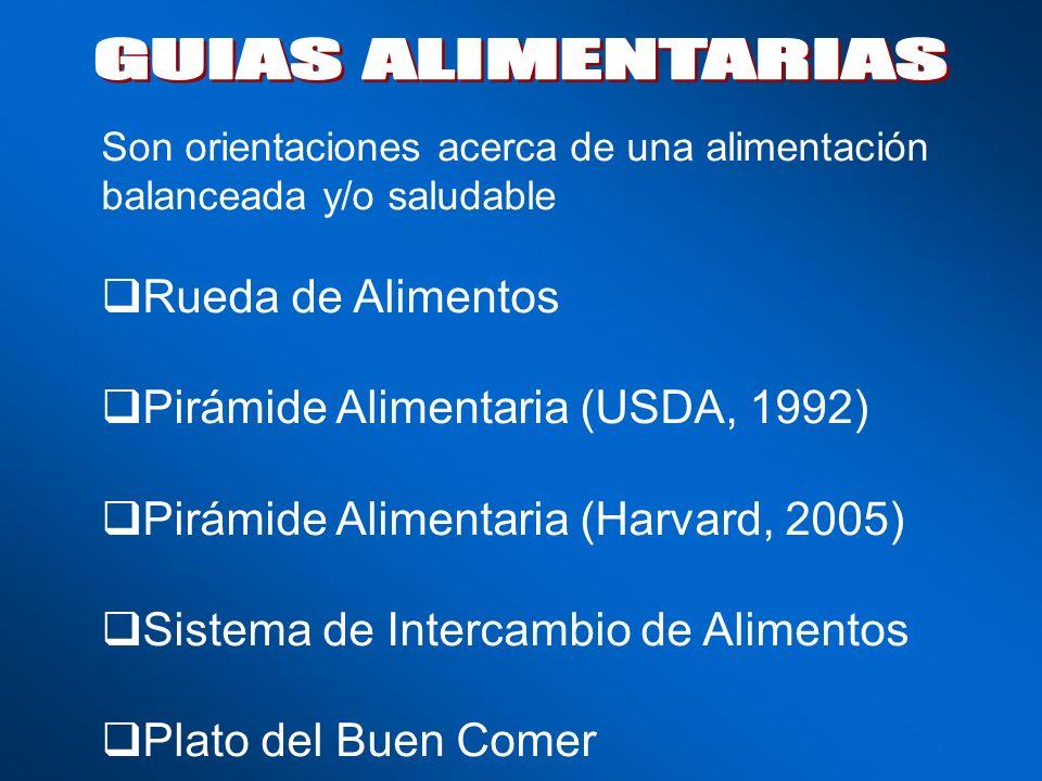 GUIAS ALIMENTARIAS Rueda de Alimentos