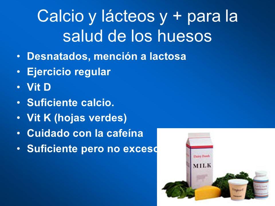 Calcio y lácteos y + para la salud de los huesos