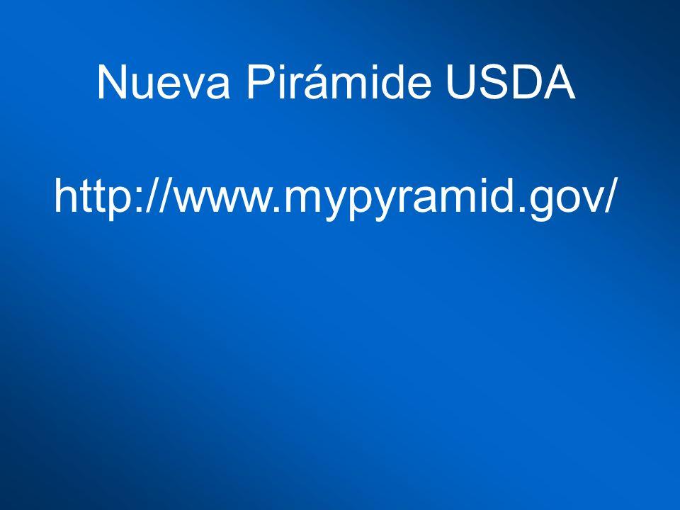 Nueva Pirámide USDA http://www.mypyramid.gov/