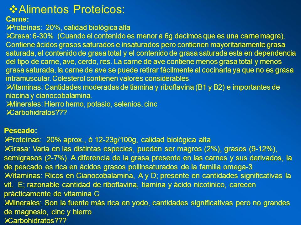 Alimentos Proteícos: Pescado: