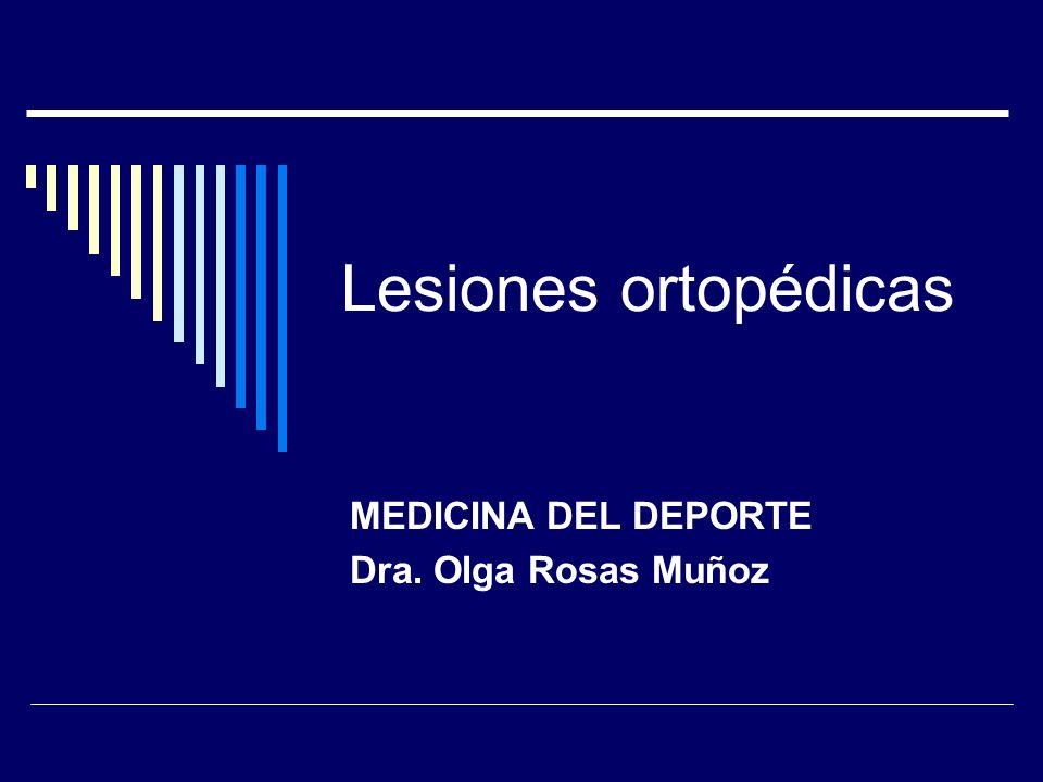 MEDICINA DEL DEPORTE Dra. Olga Rosas Muñoz
