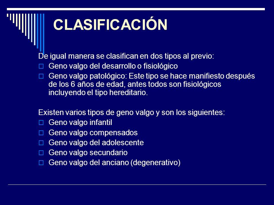 CLASIFICACIÓN De igual manera se clasifican en dos tipos al previo: