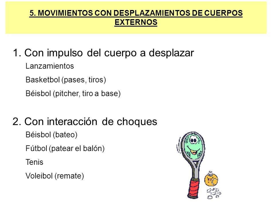 5. MOVIMIENTOS CON DESPLAZAMIENTOS DE CUERPOS EXTERNOS