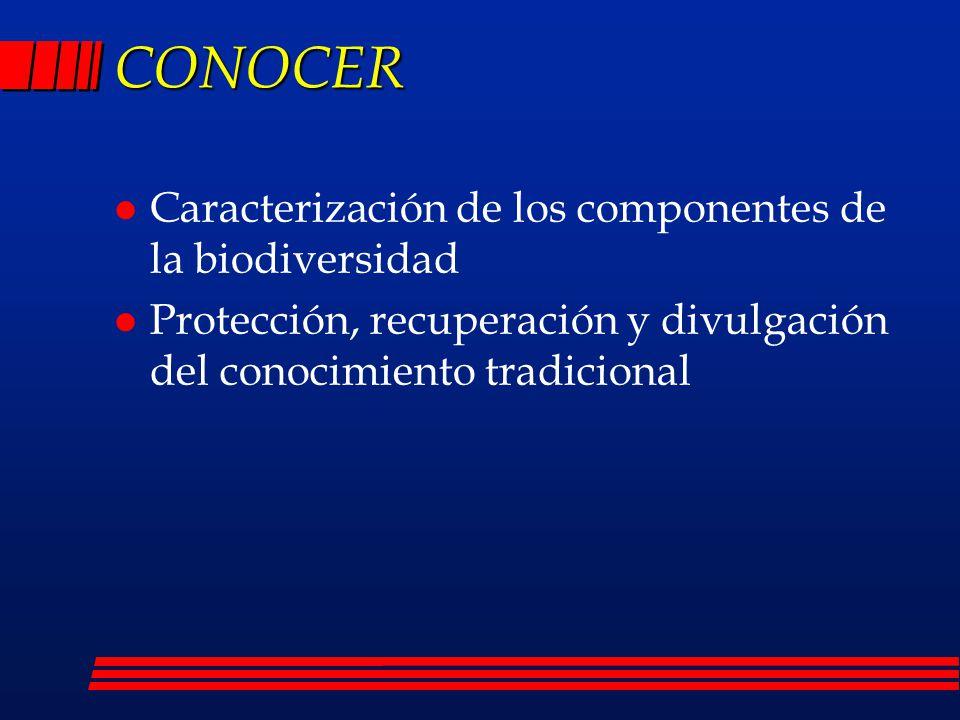 CONOCER Caracterización de los componentes de la biodiversidad