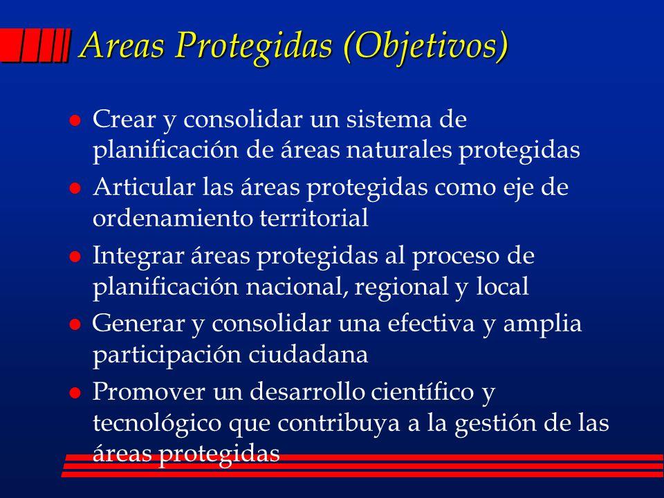 Areas Protegidas (Objetivos)