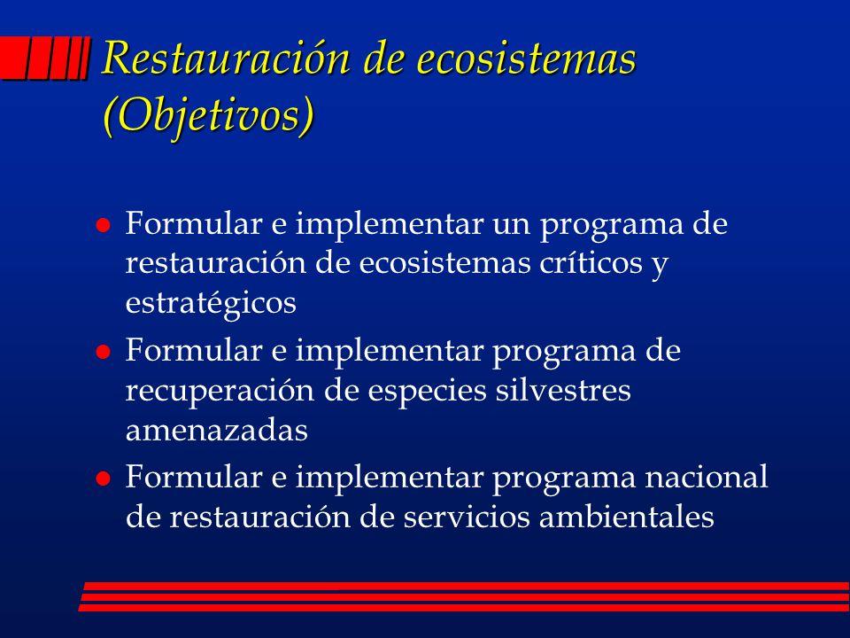 Restauración de ecosistemas (Objetivos)