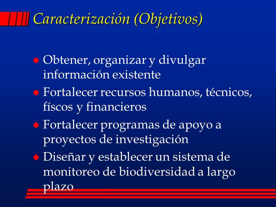 Caracterización (Objetivos)
