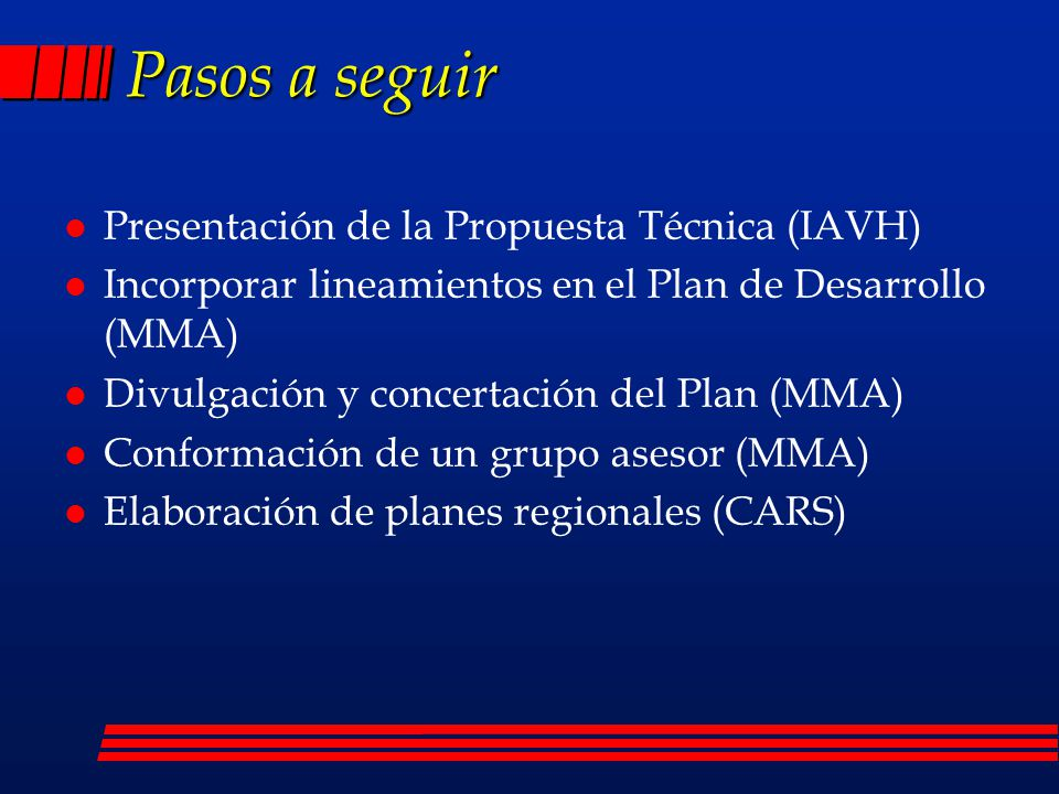 Pasos a seguir Presentación de la Propuesta Técnica (IAVH)