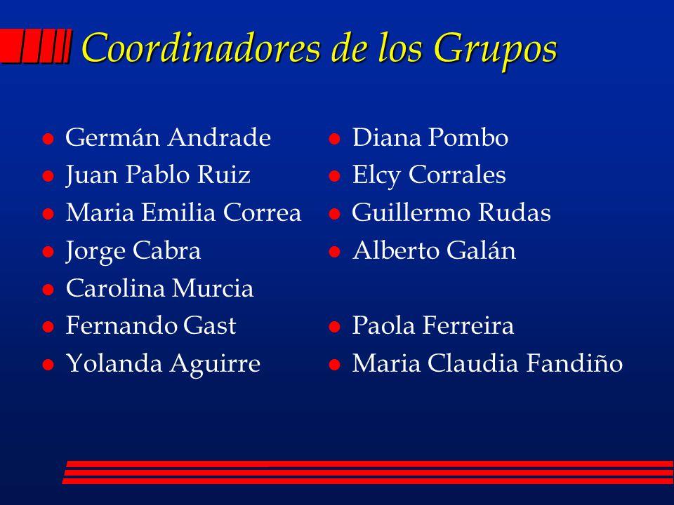 Coordinadores de los Grupos