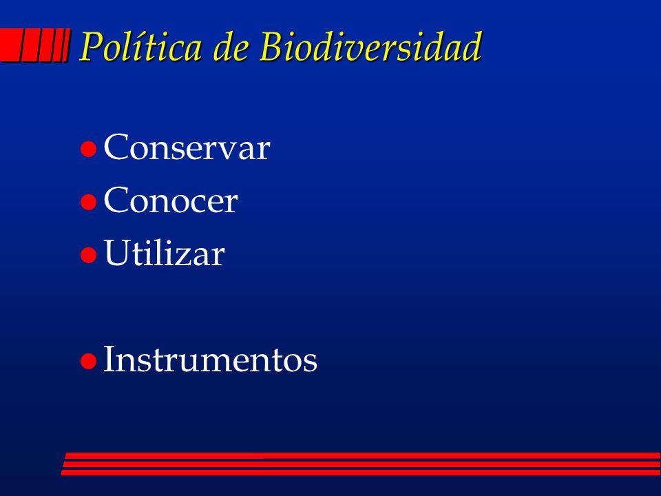 Política de Biodiversidad