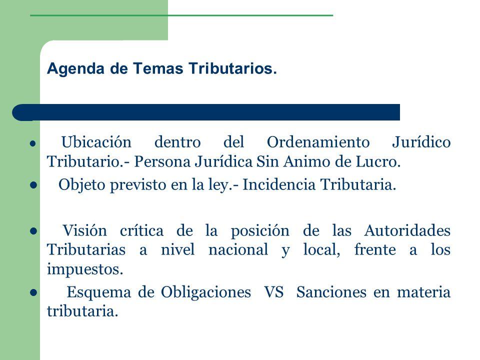 Agenda de Temas Tributarios.