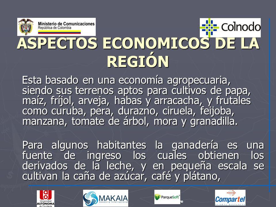 ASPECTOS ECONOMICOS DE LA REGIÓN