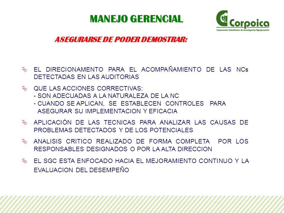 ASEGURARSE DE PODER DEMOSTRAR: