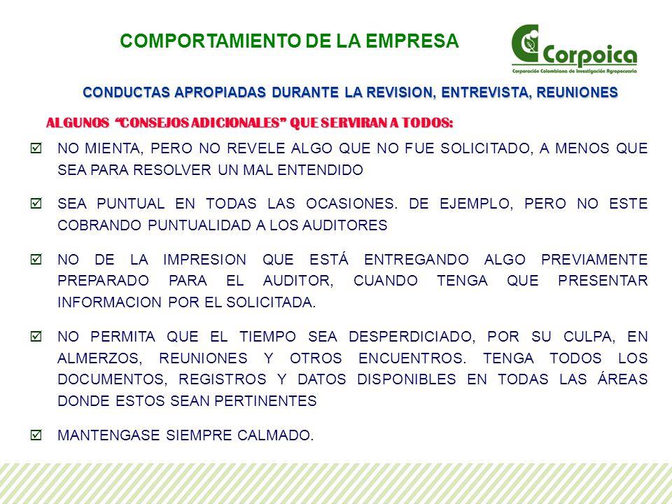 COMPORTAMIENTO DE LA EMPRESA