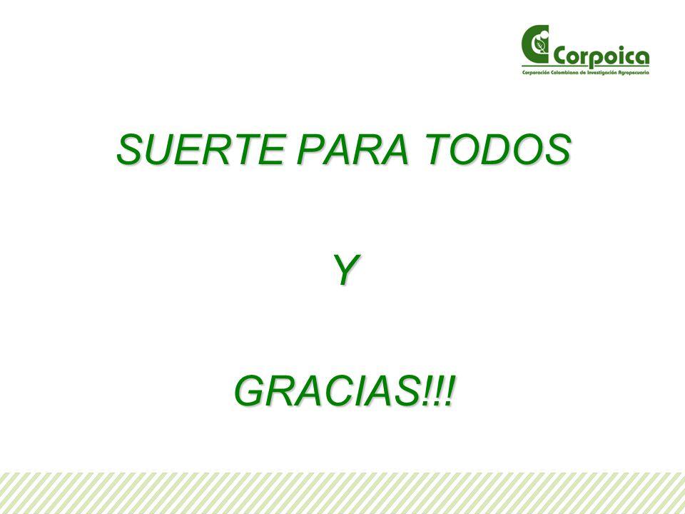SUERTE PARA TODOS Y GRACIAS!!!