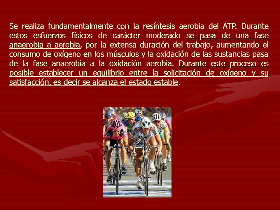 Se realiza fundamentalmente con la resíntesis aerobia del ATP