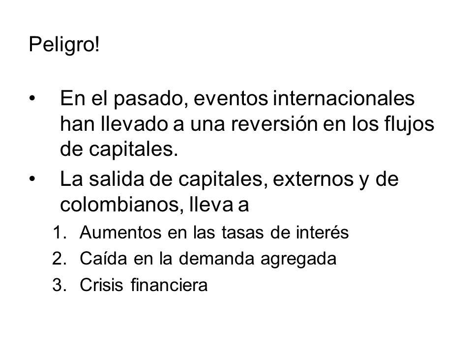 La salida de capitales, externos y de colombianos, lleva a